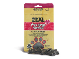 ⭐️ BUY 2 FREE 1 ⭐️<br>ZEAL<br>100% Air Dried Venison Liver<br>Dog Chew Treats