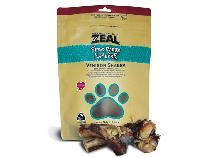⭐️ BUY 2 FREE 1 ⭐️<br>ZEAL<br>100% Air Dried Venison Shanks<br>Dog Chew Treats