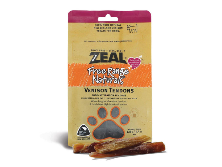 ⭐️ BUY 2 FREE 1 ⭐️<br>ZEAL<br>100% Air Dried Venison Tendons<br>Dog Chew Treats