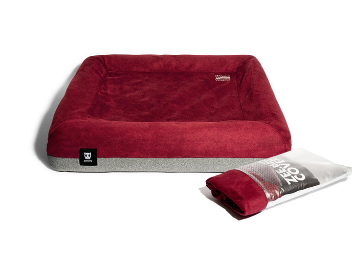 10% OFF ⏰ ZEE.DOG<br>ZEE.BED Burgundy Dog Bed Covers