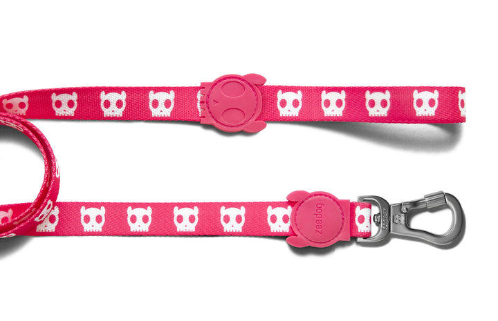 10% OFF ⏰ ZEE.DOG<br>Pink Skull Dog Leash