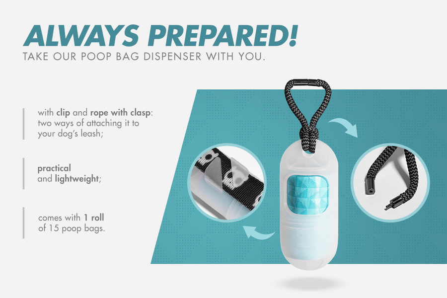 10% OFF ⏰ ZEE.DOG<br>Transparent Poop Bag Dispenser<br>+ 1 Roll