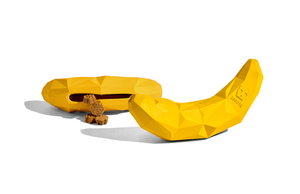 10% OFF ⏰ ZEE.DOG<br>Super Banana Treat Dispenser<br>Rubber Dog Chew Toy