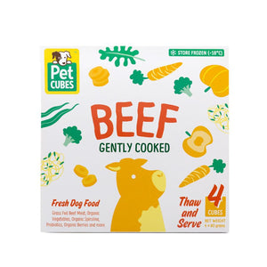 10% + FREE BROTH 🤩 PET CUBES<br>Gently Cooked<br>Frozen Fresh Human Grade Dog Food