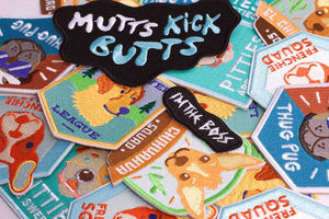 10% OFF ⏰ ZEE.DOG<br>Mutts Kick Butts Iron-On Patch