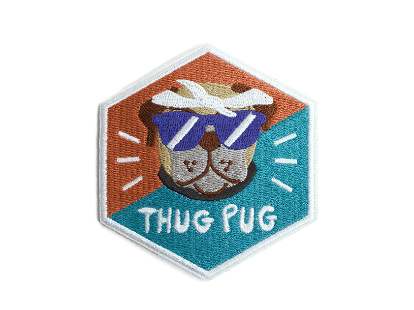 10% OFF ⏰ ZEE.DOG<br>Thug Pug Iron-On Patch