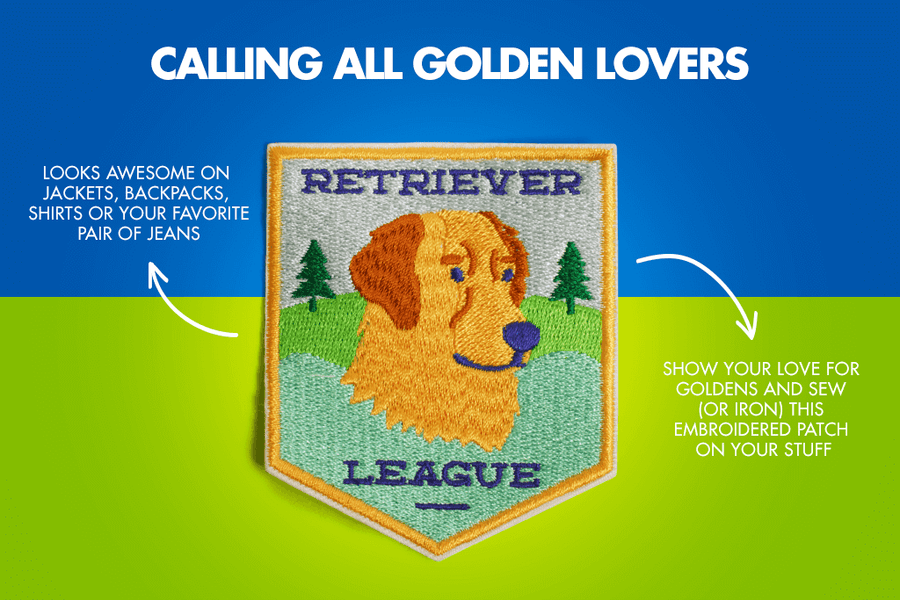 10% OFF ⏰ ZEE.DOG<br>Retriever League Iron-On Patch