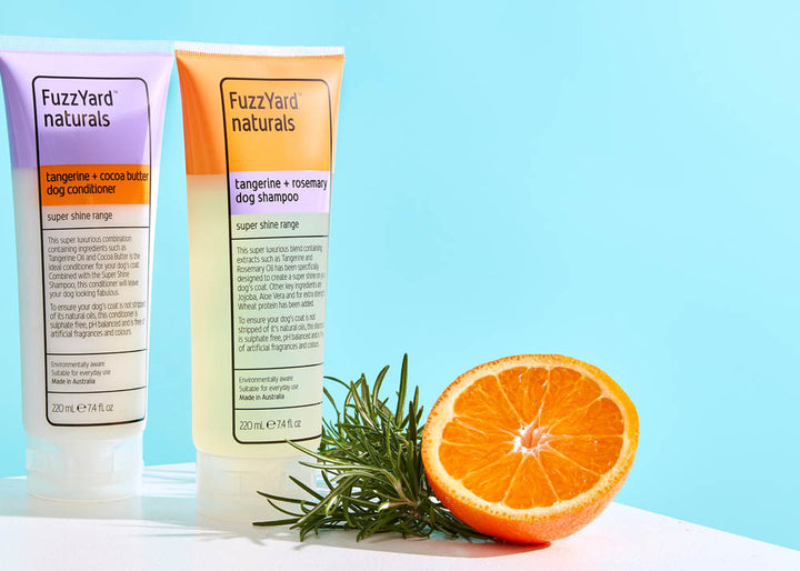 25% OFF ⏰ FUZZYARD<br>Tangerine + Rosemary<br>Super Shine Dog Shampoo