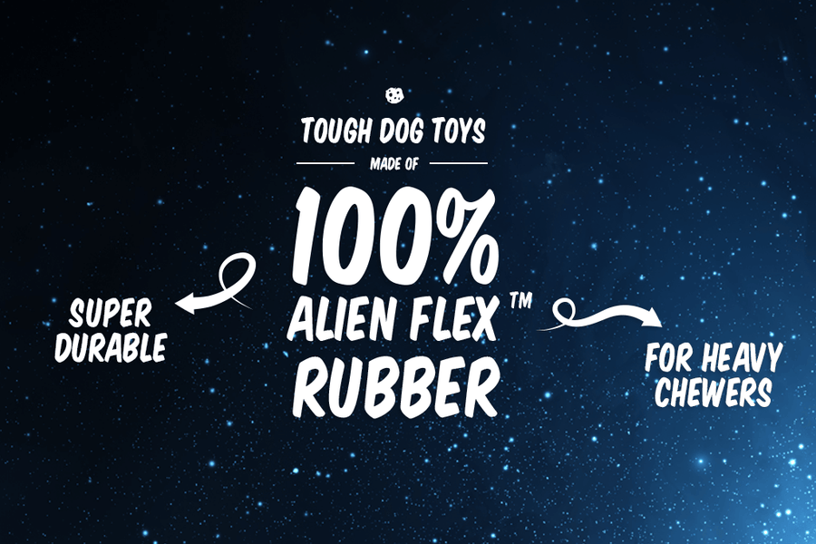10% OFF ⏰ ZEE.DOG<br>Alien Flex Space Station<br>Rubber Dog Fetch/Chew/Treat Toy