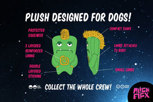 10% OFF ⏰ ZEE.DOG<br>Alien Flex Gro<br>Dog Plush Toy