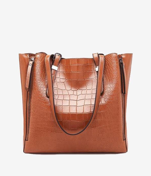Vegan Alligator Safari Date Bag - Pacific Weekend