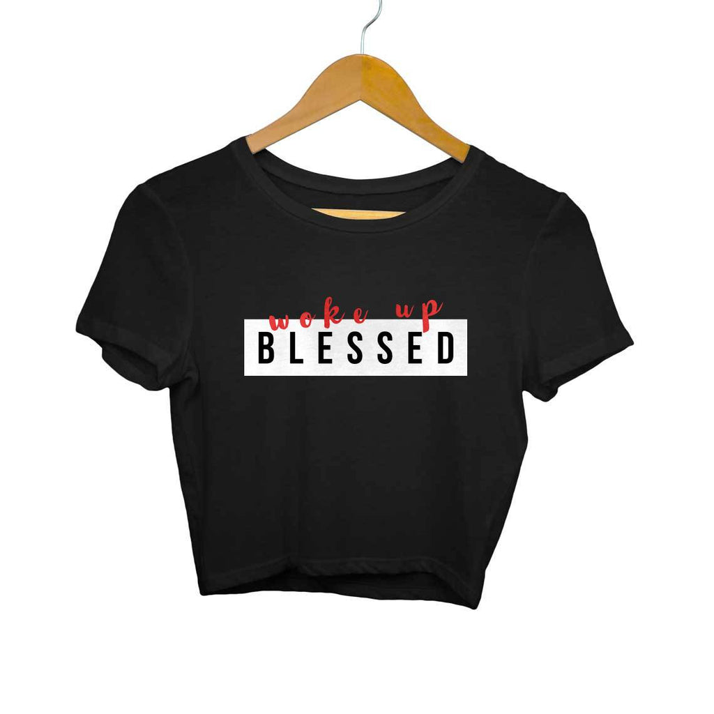 Woke Up Blessed- Crop Top/T-shirt