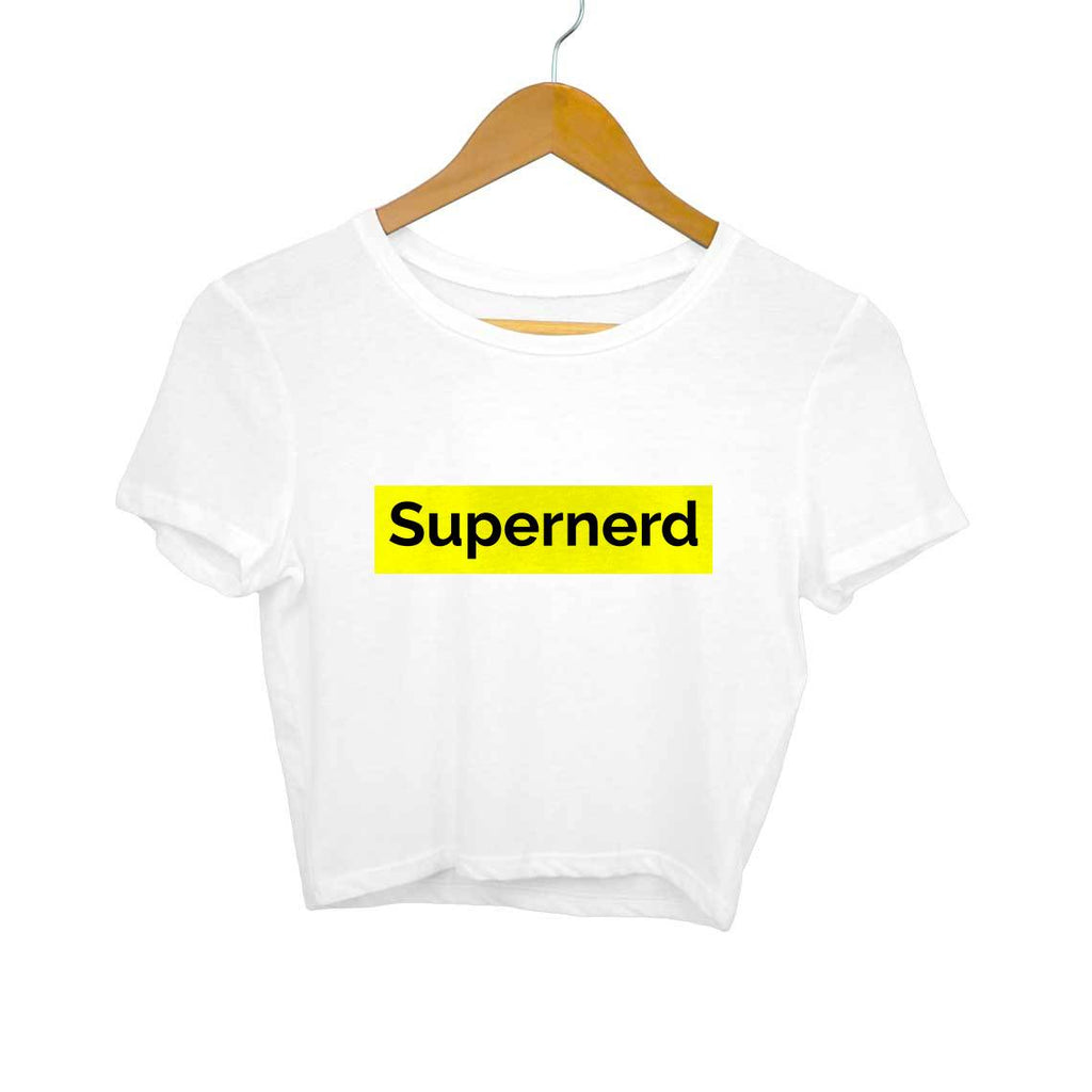 Supernerd- White Crop Top/T-shirt