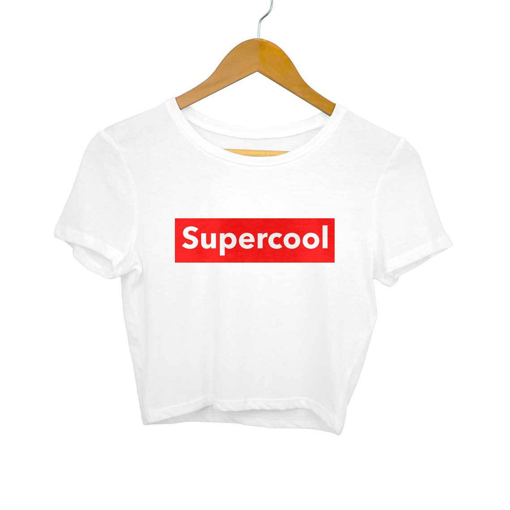 Supercool- White Crop Top/T-shirt
