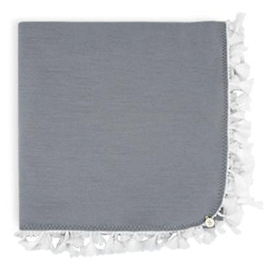 Exclusive Baby Wrap - Grey Merino - White Tassel
