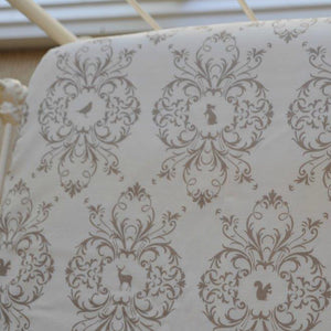 Fitted Cot Sheet - Taupe Deers
