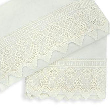 Load image into Gallery viewer, 2pc Cot Sheet Set, Ivory Lace Trim
