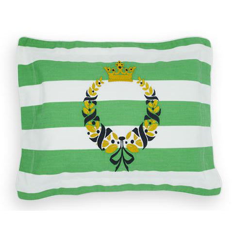 'Emerald Crown' Embroidered Pillowcase