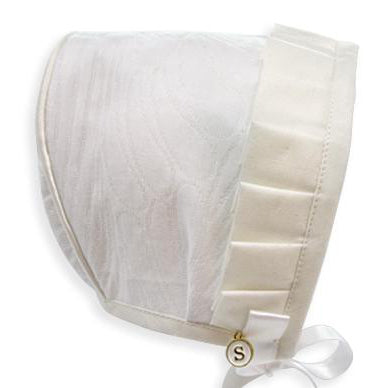 Exclusive White Jacquard Bonnet