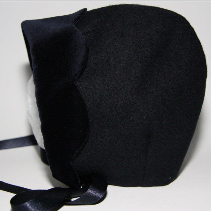 Exclusive Navy Wool Bonnet