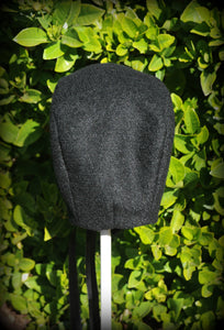Exclusive Black Wool Bonnet