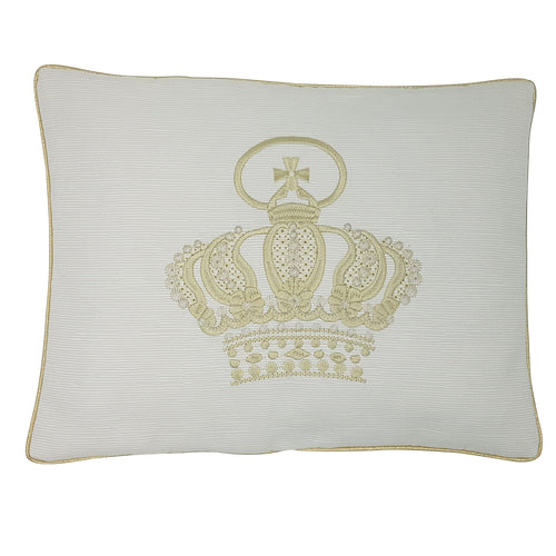 'My Royal Crown' Exclusive Baby Wrap & Pillowcase Set, Embroidered Gold on Cream