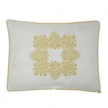 Load image into Gallery viewer, 'Golden Damask' Embroidered Pillowcase