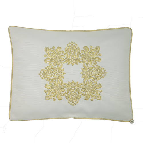 'Golden Damask' Embroidered Pillowcase