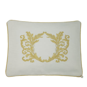 Precious Gold Leaf' Embroidered Pillowcase