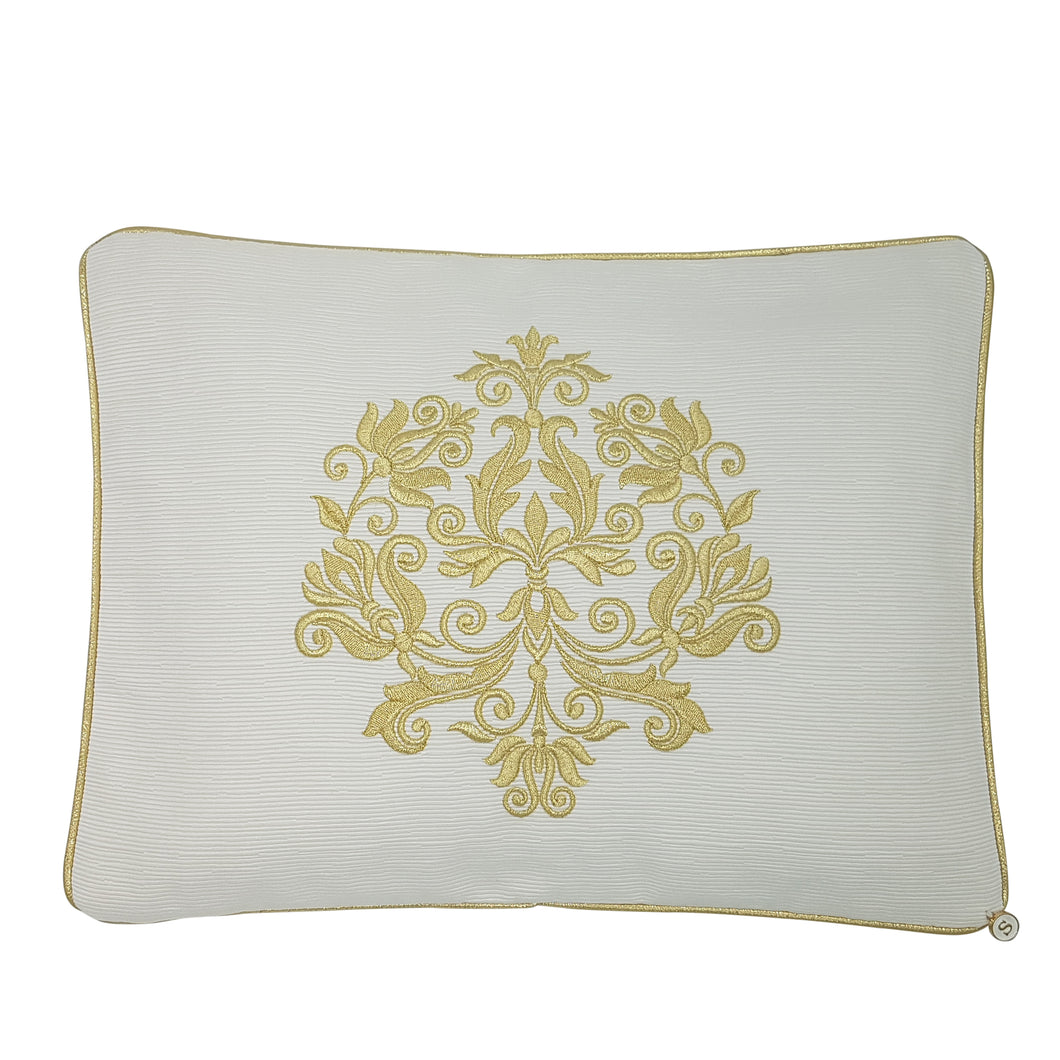 'GOLD BOTANICALS' Embroidered Pillowcase