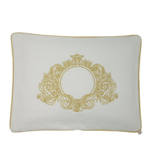 'Golden Threads' Embroidered Pillowcase