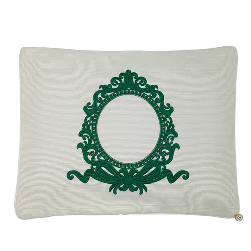 'Framed in Forest' Embroidered Pillowcase