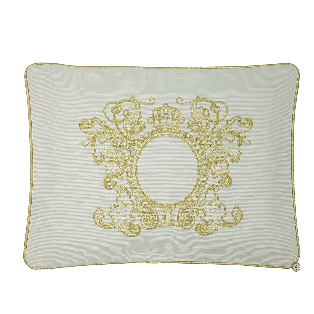 'Adorable in Gold' Embroidered Pillowcase