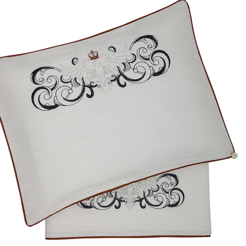 'Eagles Crest' 2pc Bassinet Sheet Set, Embroidered