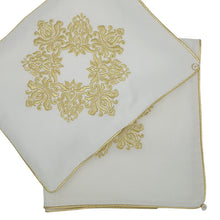 Load image into Gallery viewer, 'Golden Damask' Embroidered Wrap & Pillowcase Set