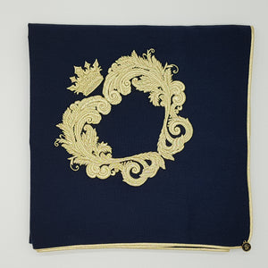 Limited Edition Baby Wrap & Pillowcase Set, Gold on Navy Cotton Blend