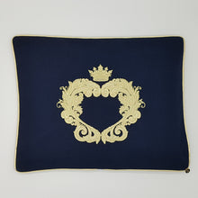 Load image into Gallery viewer, Limited Edition Baby Wrap & Pillowcase Set, Gold on Navy Cotton Blend