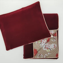 Load image into Gallery viewer, ** SOLD OUT ** Limited Edition Baby Wrap & Pillowcase Set, Wine Velvet with floral