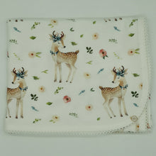 Load image into Gallery viewer, Whimsical Deer Organic Cotton Baby Wrap