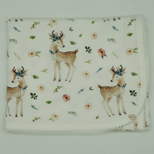 Whimsical Deer Organic Cotton Baby Wrap