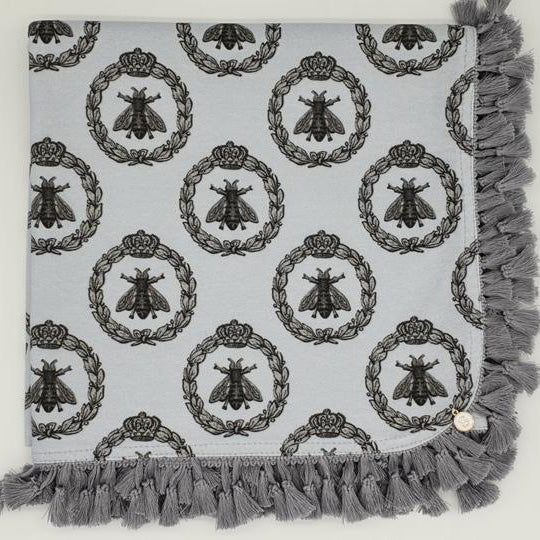 'Grey Bee's' Organic Cotton Baby Wrap & Pillowcase
