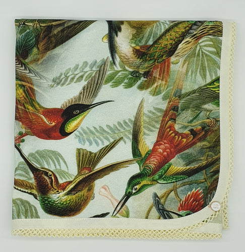 'In Colourful Flight' Organic Cotton Stretch Baby Wrap