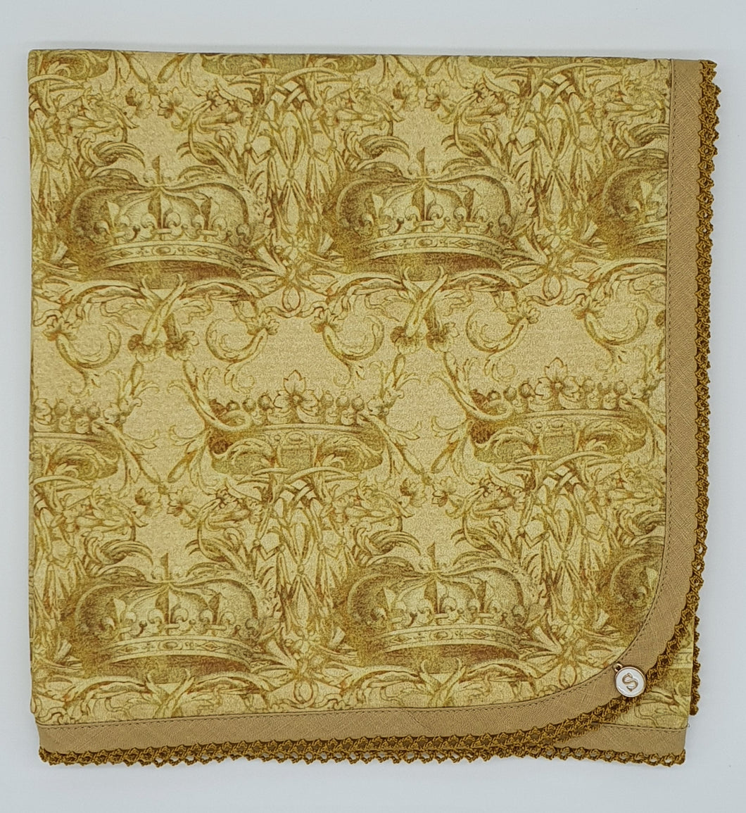 'Crowned In Gold' Organic Cotton Baby Wrap