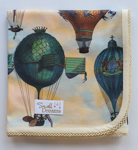 'Ballooning to Prussia' Organic Cotton Baby Wrap