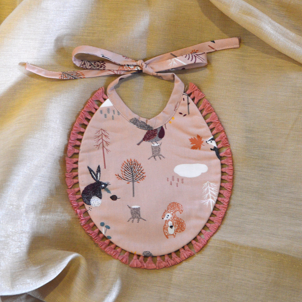 'Pink Forest' Reversible Bib