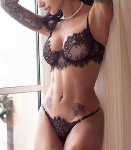 Sexy Bras Set Lace Transparent Push Up Women Lingerie Hyalya