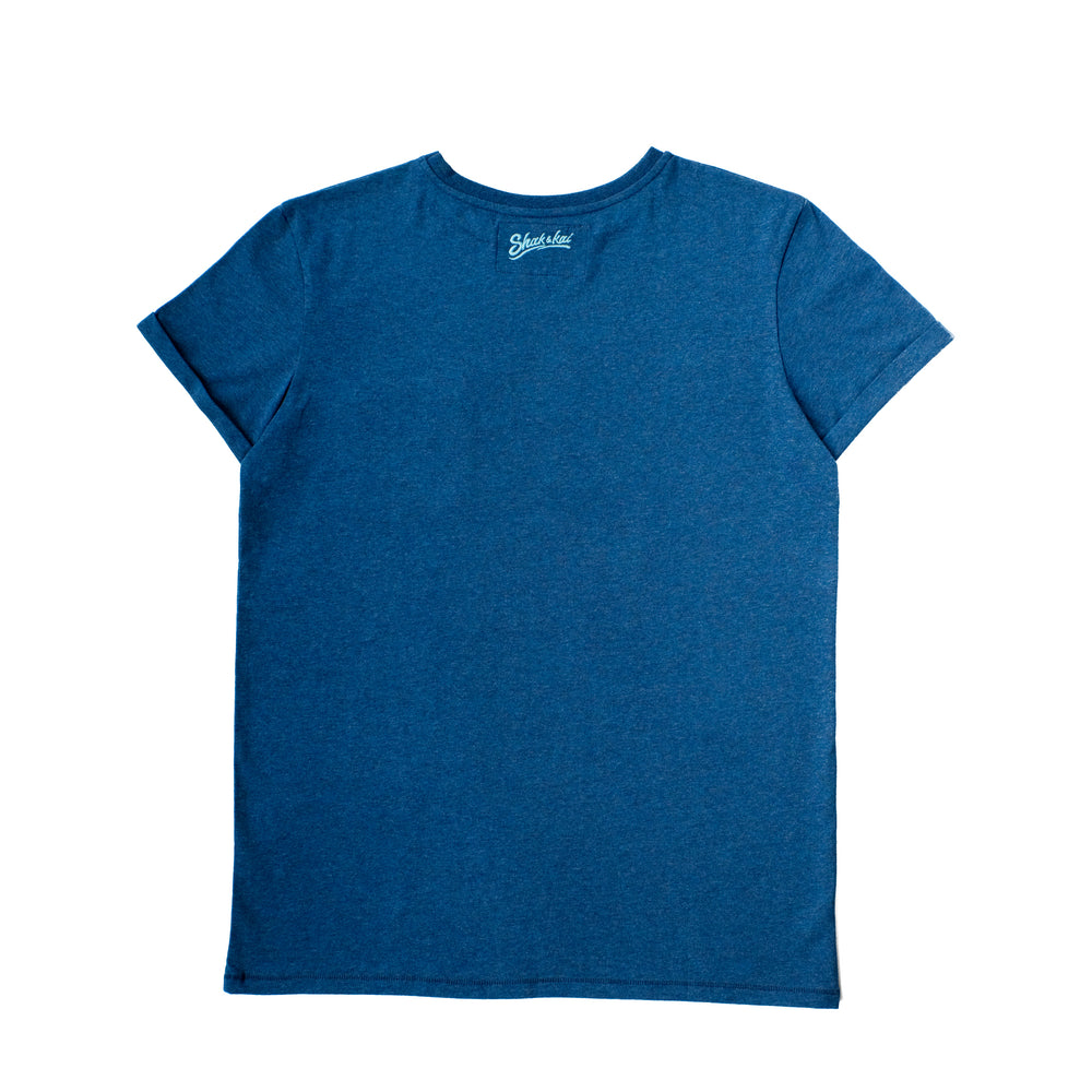 Belharra Tee - Blue - 100% recycled tee-shirt - Shak & Kai