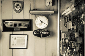 Pub wall with Guinness sign