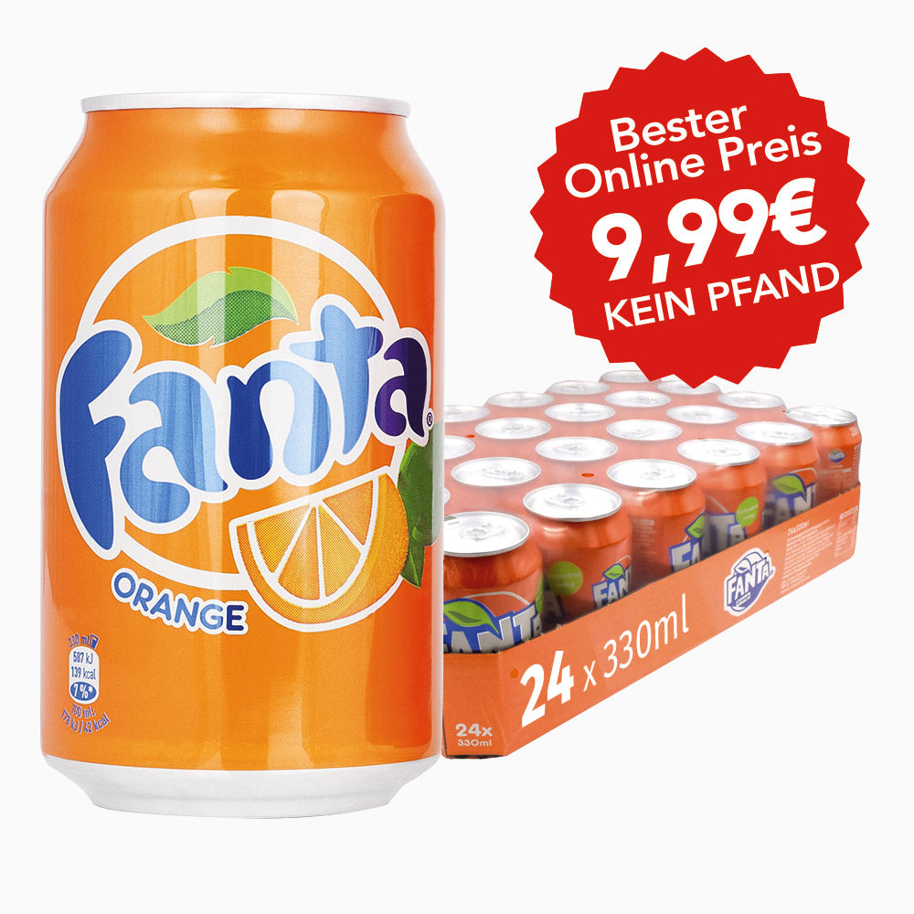 Fanta Orange 24x330ml ++PFANDFREI++