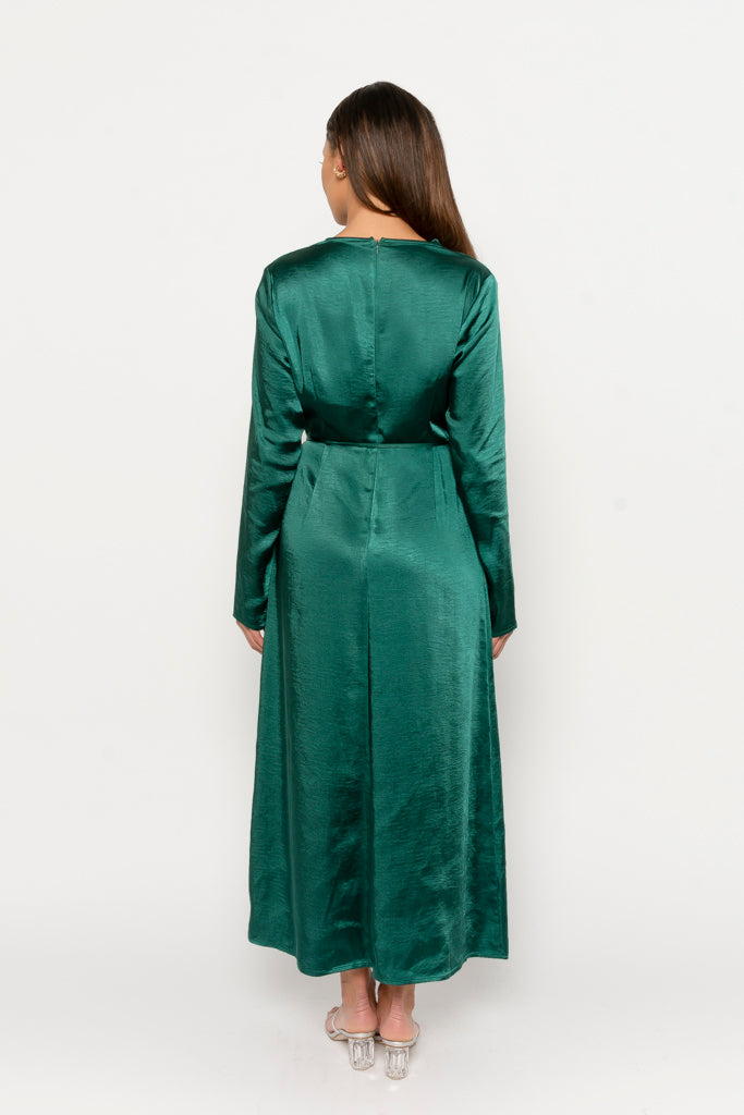 Halima dress emerald green